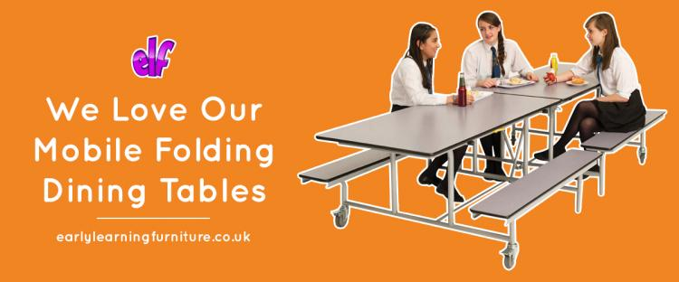 We Love our Folding School Dining Tables
