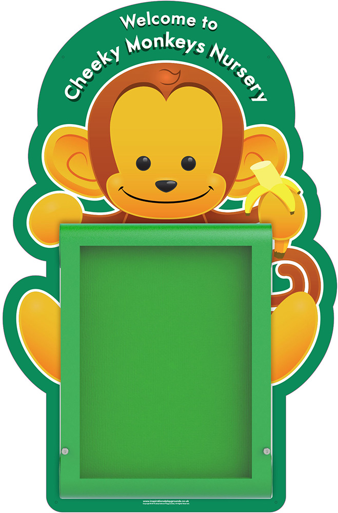 Nursery Welcome Sign Monkey