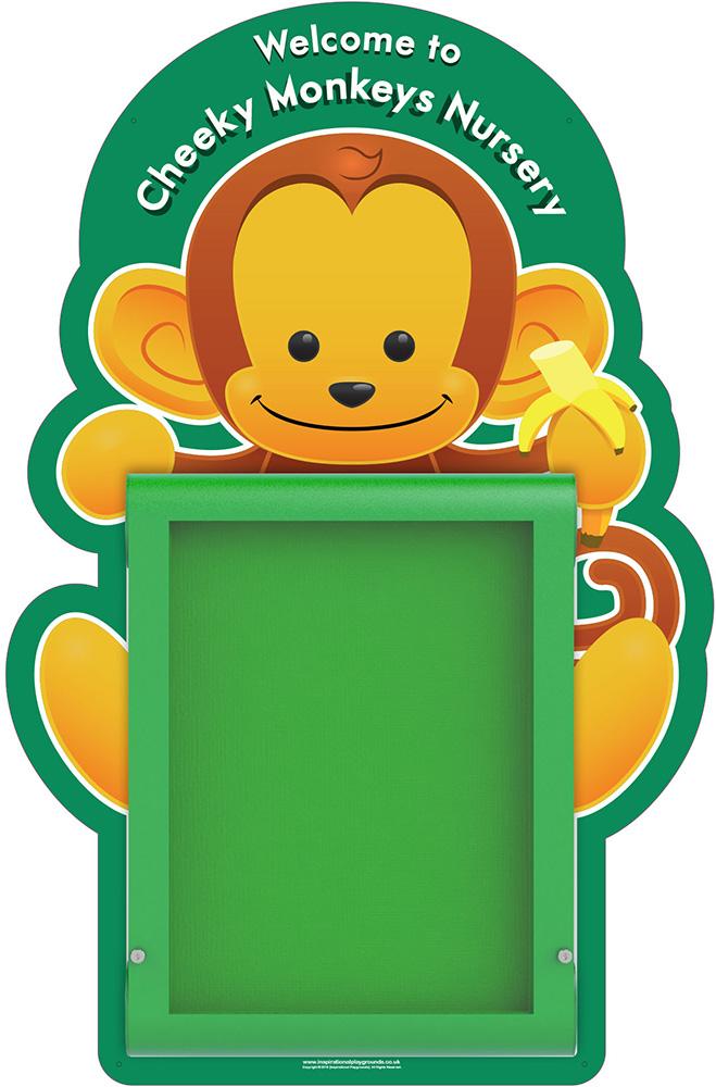 Nursery Welcome Sign Monkey