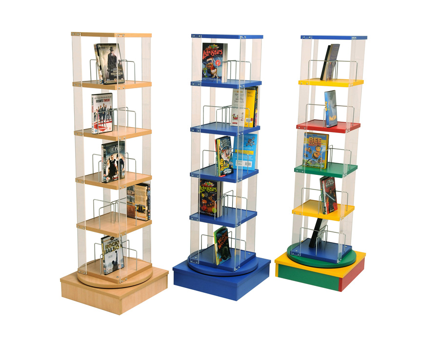 Paperback DVD Tower Storage Unit