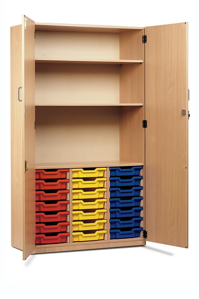 21 Shallow Tray Storage Cupboard