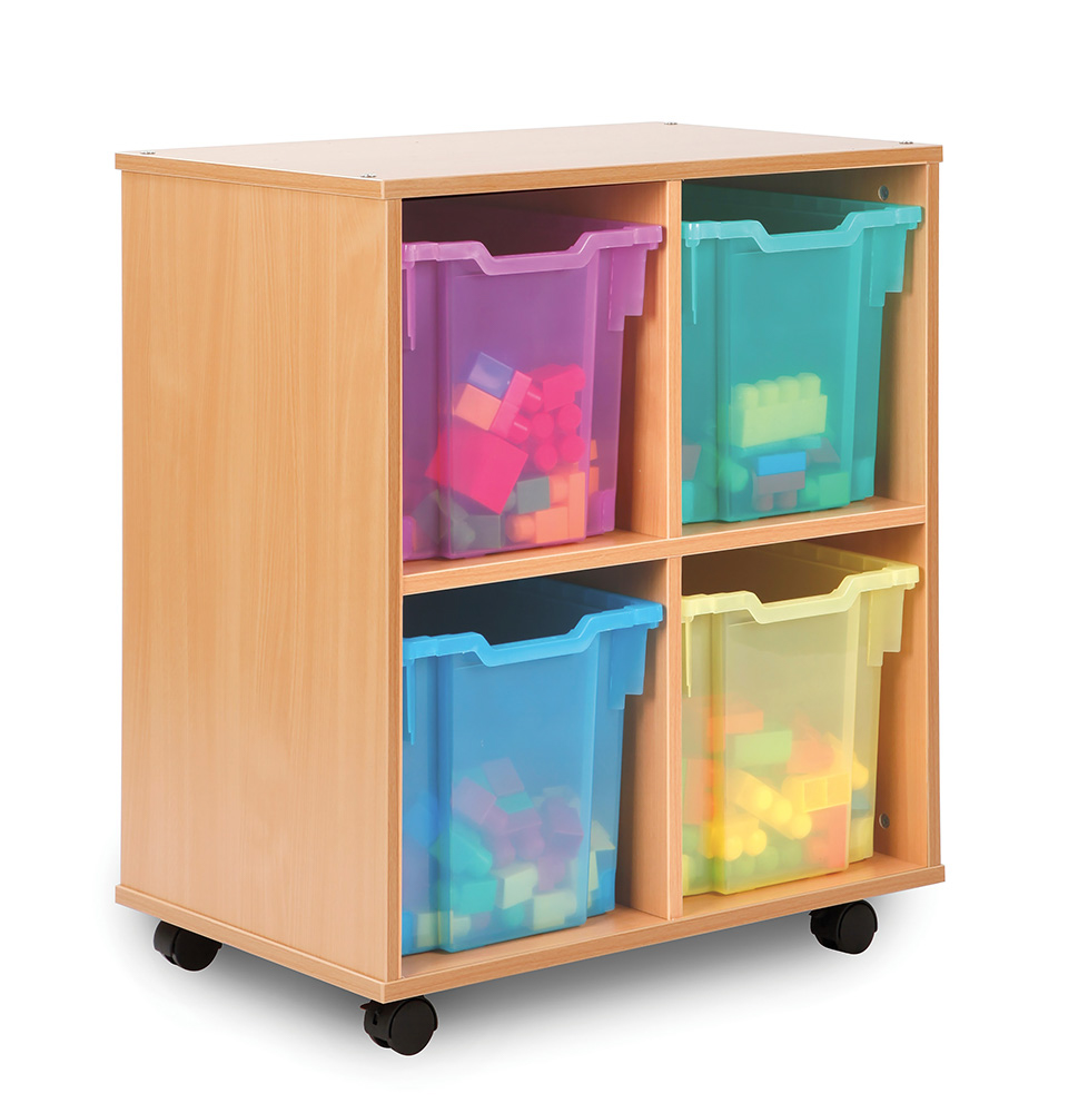 Allsorts Stackable Classroom Storage Unit Jumbo Trays