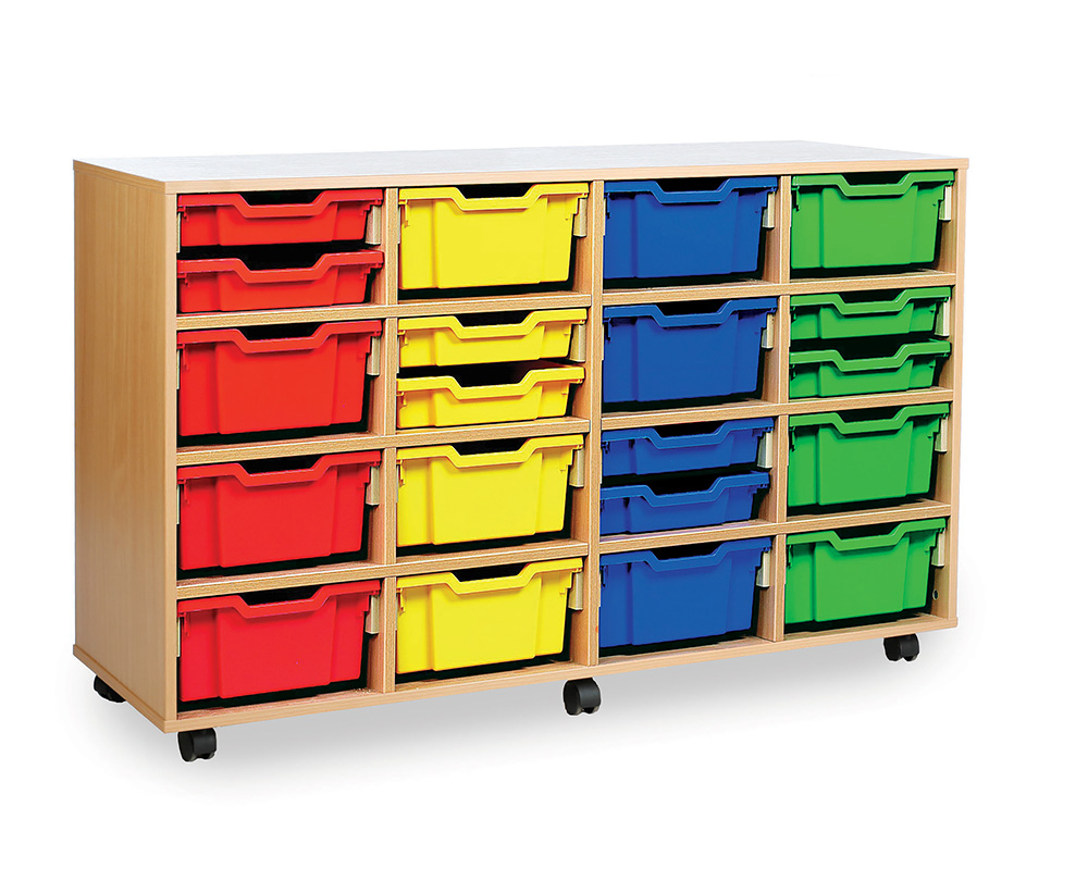 32 or 16 Combination Tray Storage Unit