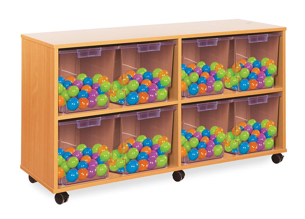 Crystal Clear Classroom Tray Storage Jumbo Tray