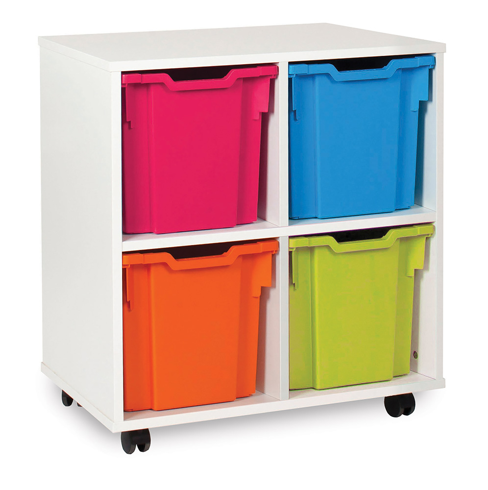 White Range Classroom Storage Unit Jumbo Tray