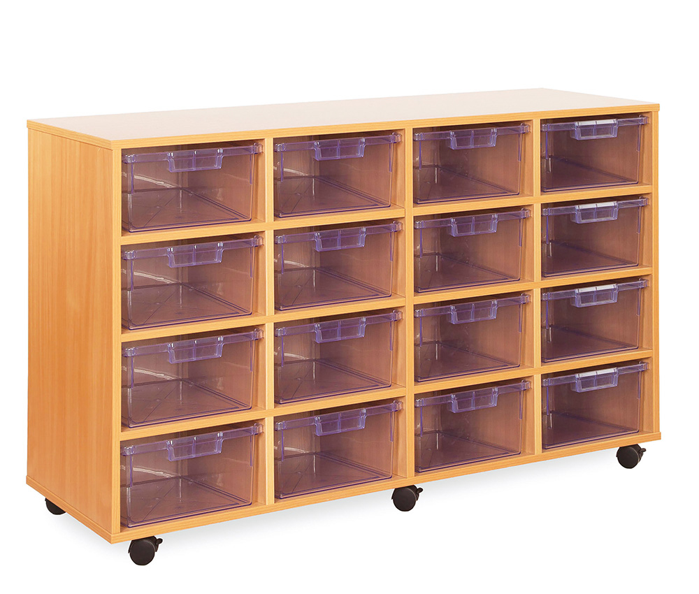 Crystal Clear Classroom Tray Storage Deep Tray