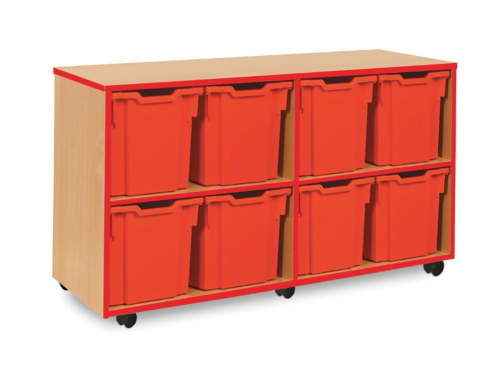 Coloured Edge Classroom Storage Unit Jumbo Tray