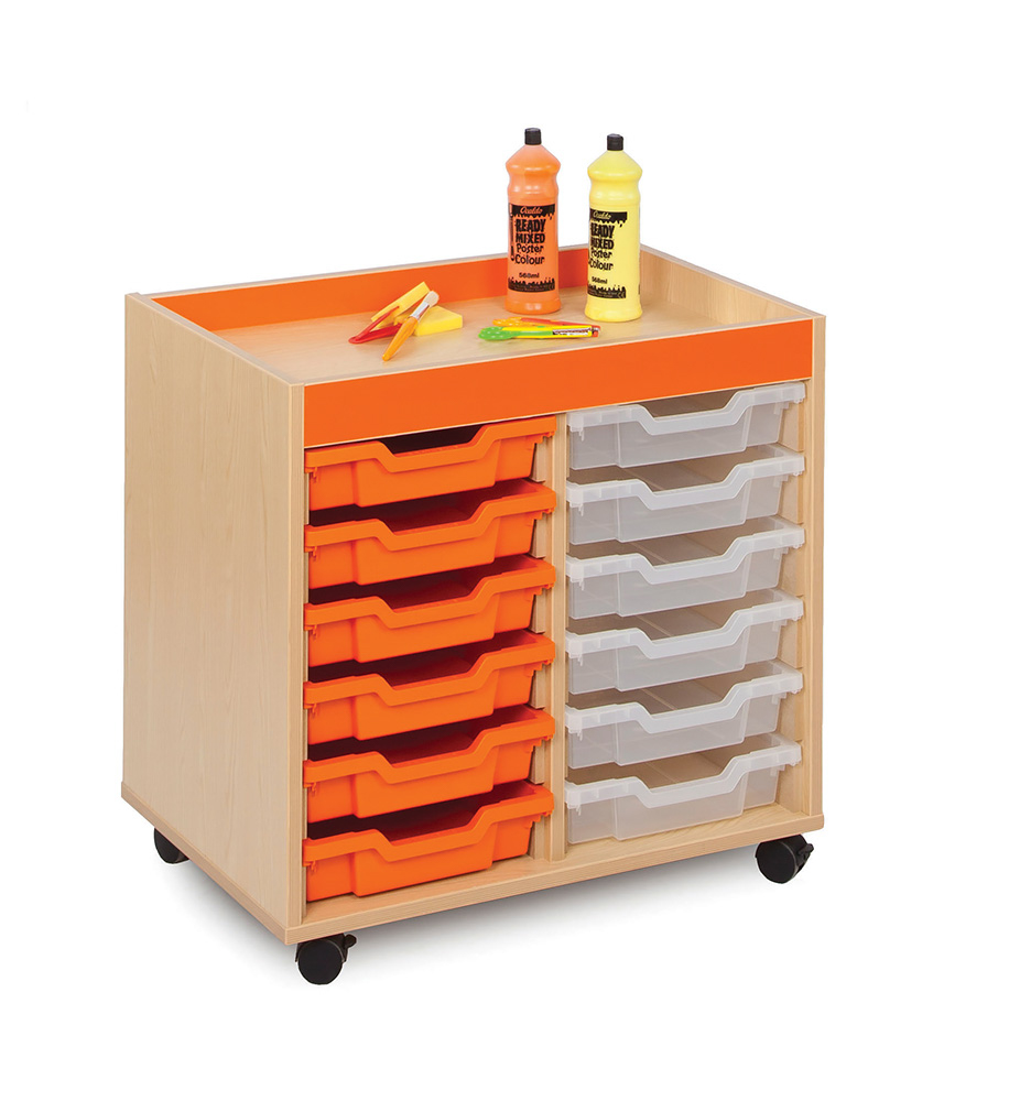 Bubblegum Classroom Storage Unit Shallow Trays