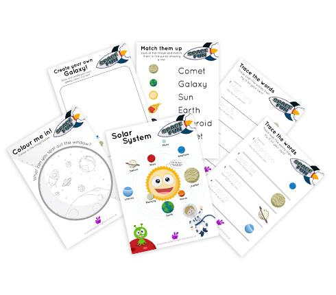 Space Printable Worksheets