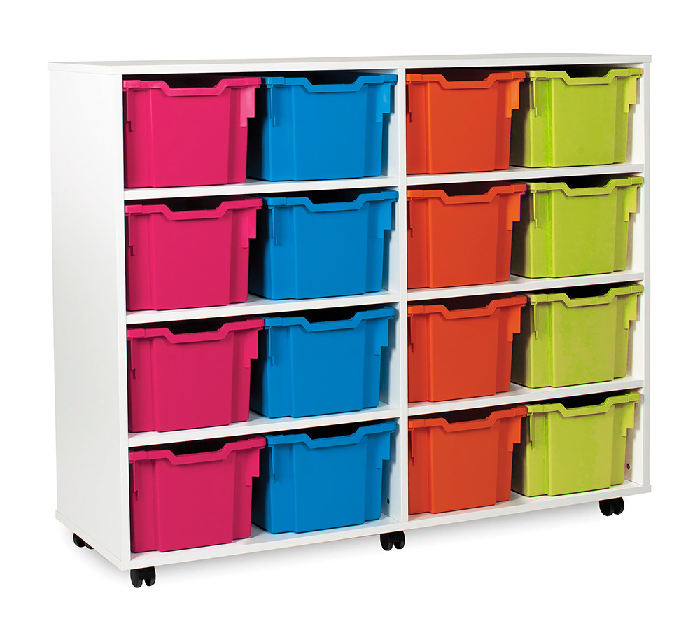 White Range Classroom Storage Unit Variety Tray