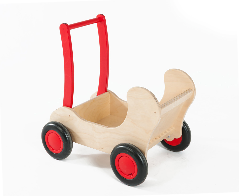 Childrens Wooden Pram Cart