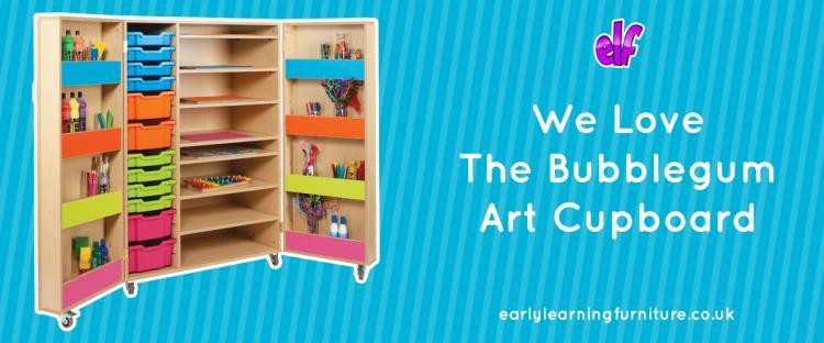 We Love the Bubblegum Art Storage