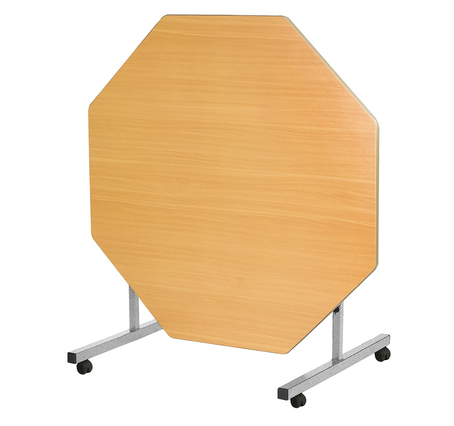 Tilt Top School Dining Table Octagonal