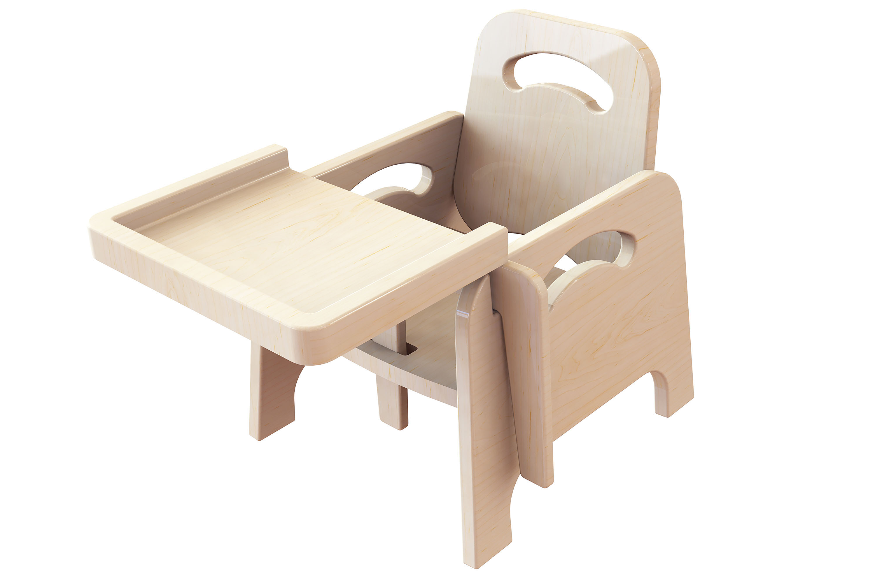 Wooden Low High Chair
