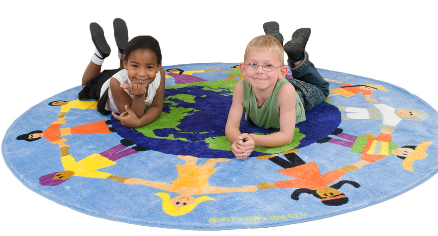 Children of The World Multi-Cultural Classroom Carpet