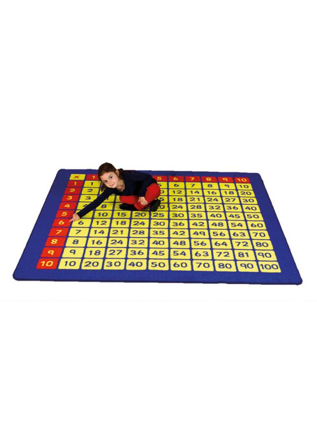 100 Square Multiplication Grid Number Mats