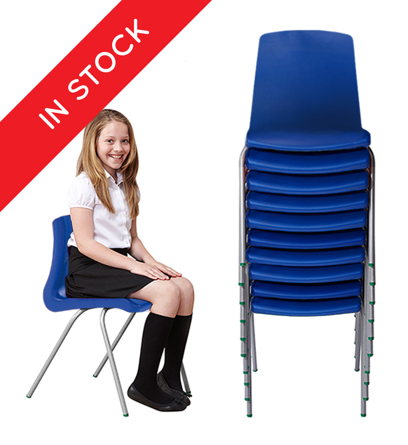 In Stock NP School Chair in Blue Pack of 10