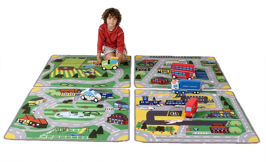 Town & Country Road Classroom Rugs