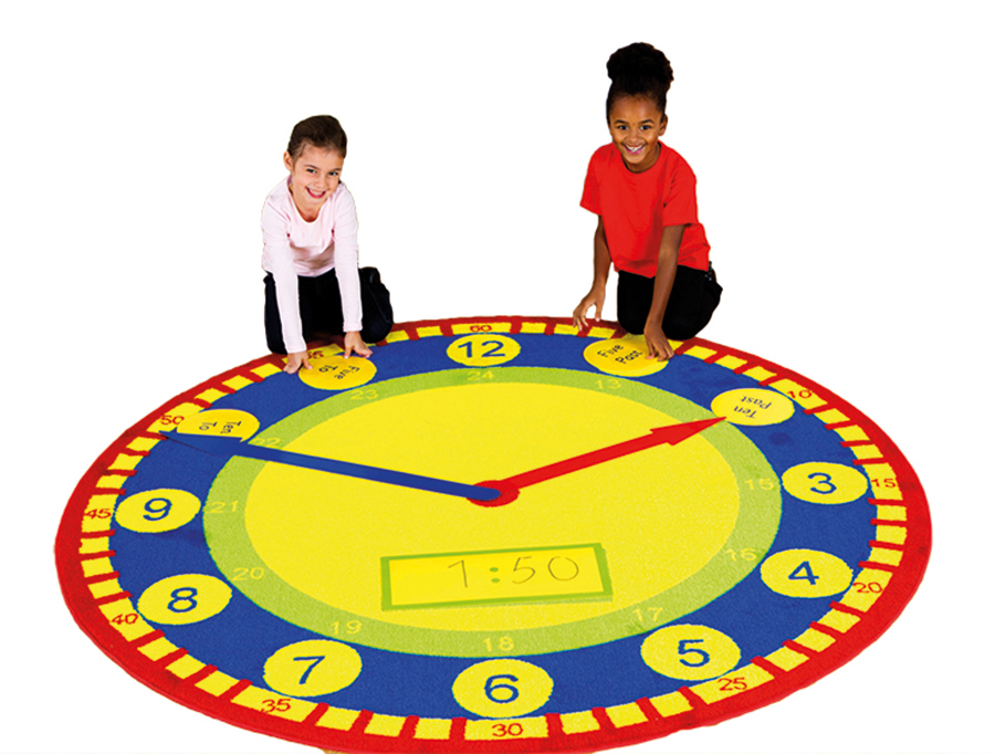 Tell the Time Classroom Carpet & Accessory Pack