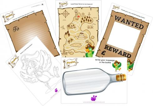 Pirate Themed Worksheets