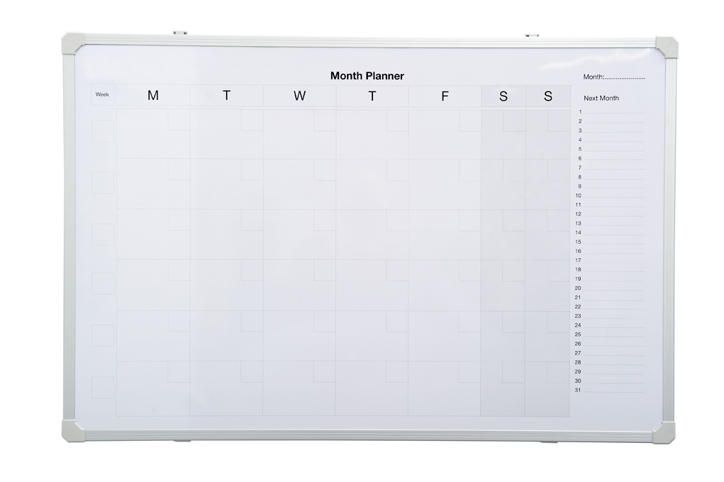 Monthly Planner Magnetic Whiteboard