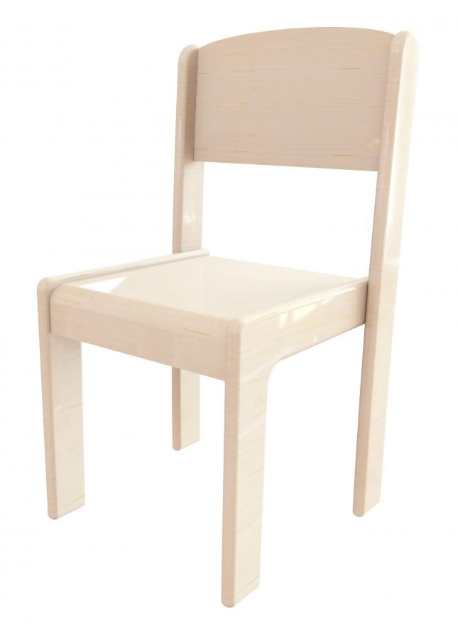Childrens Wooden Stacking Chairs Pack of 4