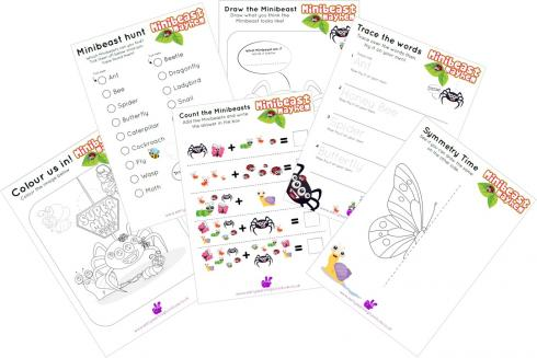 Minibeasts Printable Activities and Worksheets