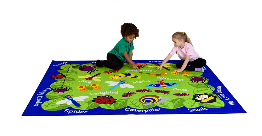 Back to Nature Minibeasts Classroom Rugs