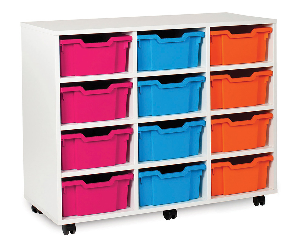 White Range Classroom Storage Unit Deep Tray