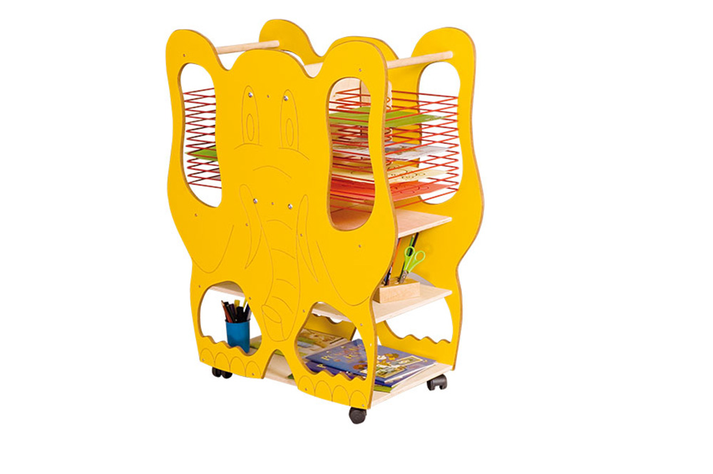 Elephant Double Sided Classroom Art Drying Rack