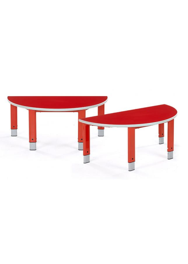 Start Right Height Adjustable Classroom Table Semi-Circular Pack of 2