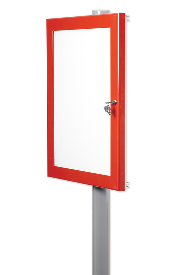 Single Post Mounted School Outdoor Notice Board