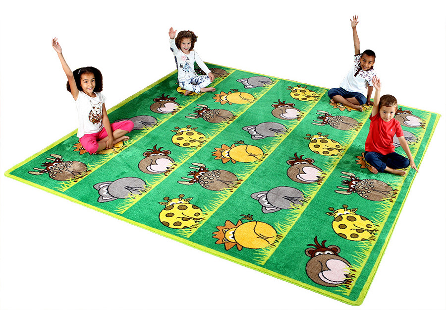Town & Country Zoo Animals Classroom Carpets