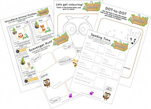 Woodlands Printable Worksheets