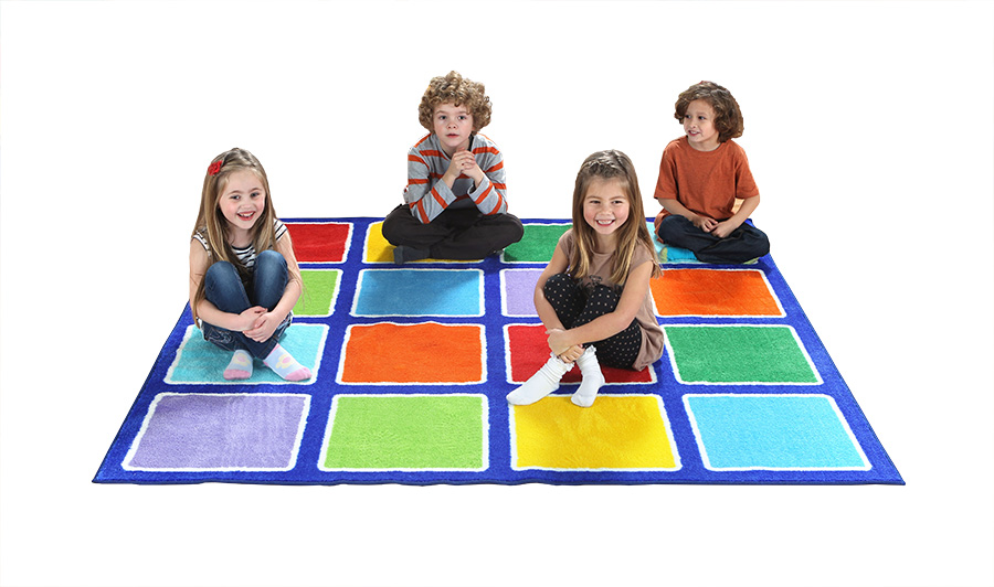 Rainbow Placement Classroom Rugs