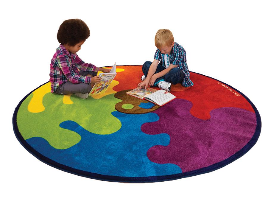 Decorative Colour Classroom Rugs Palette Tubes